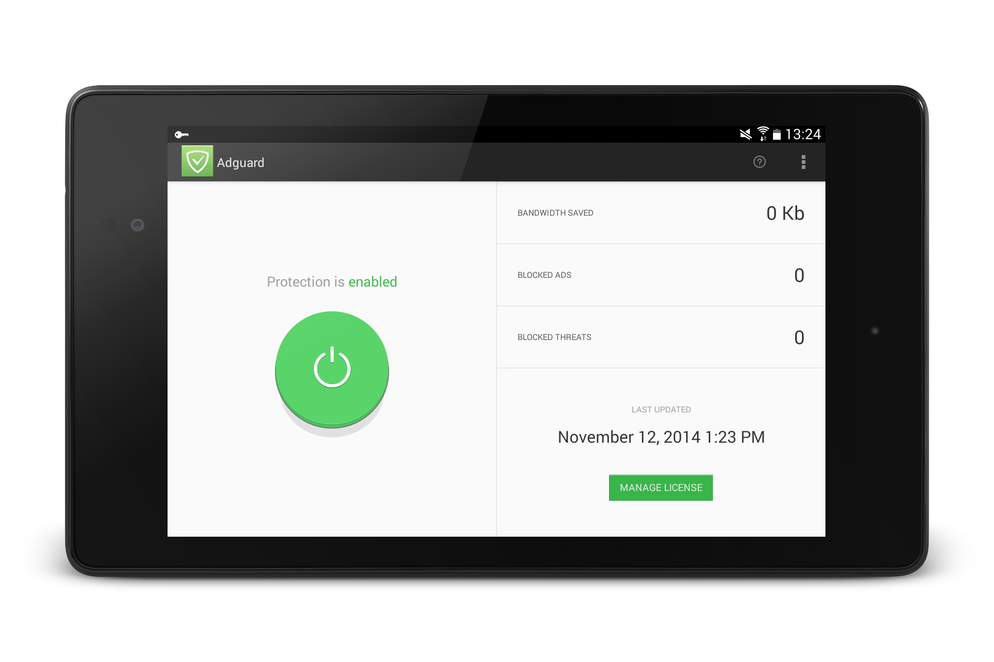 11/13/2014 - Adguard app for Android