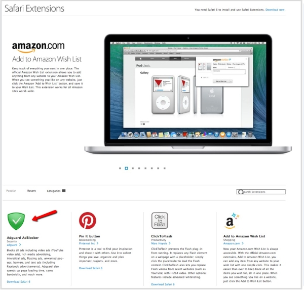07/04/2014 - Extension for Safari