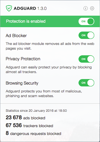 Adguard for Mac 1.3.0