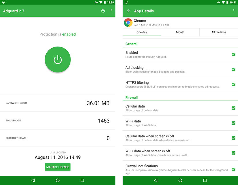 Adguard for Android 2.7