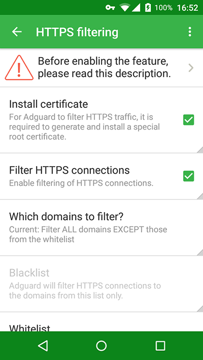 Adguard for Android 2.5.70