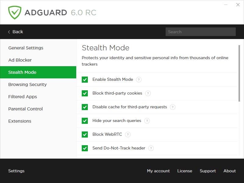 Adguard Stealth Mode