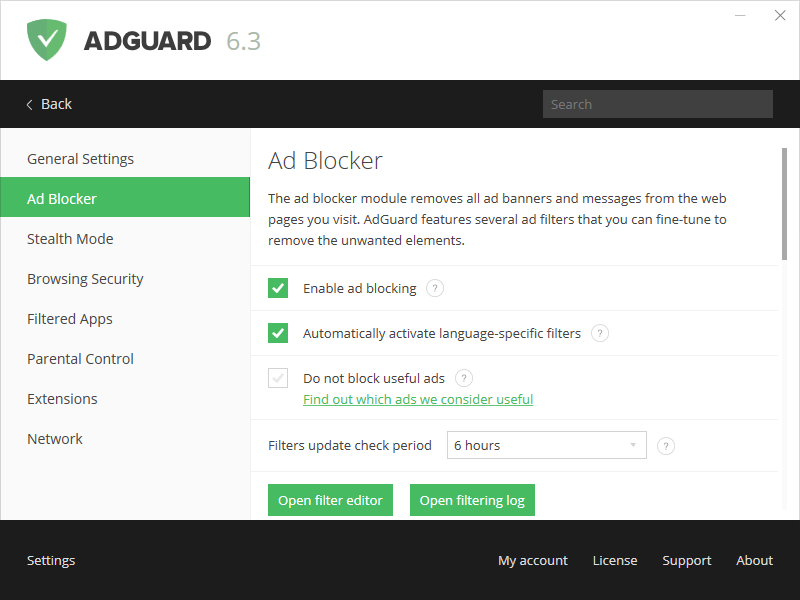 In-depth features review: AdGuard for Windows