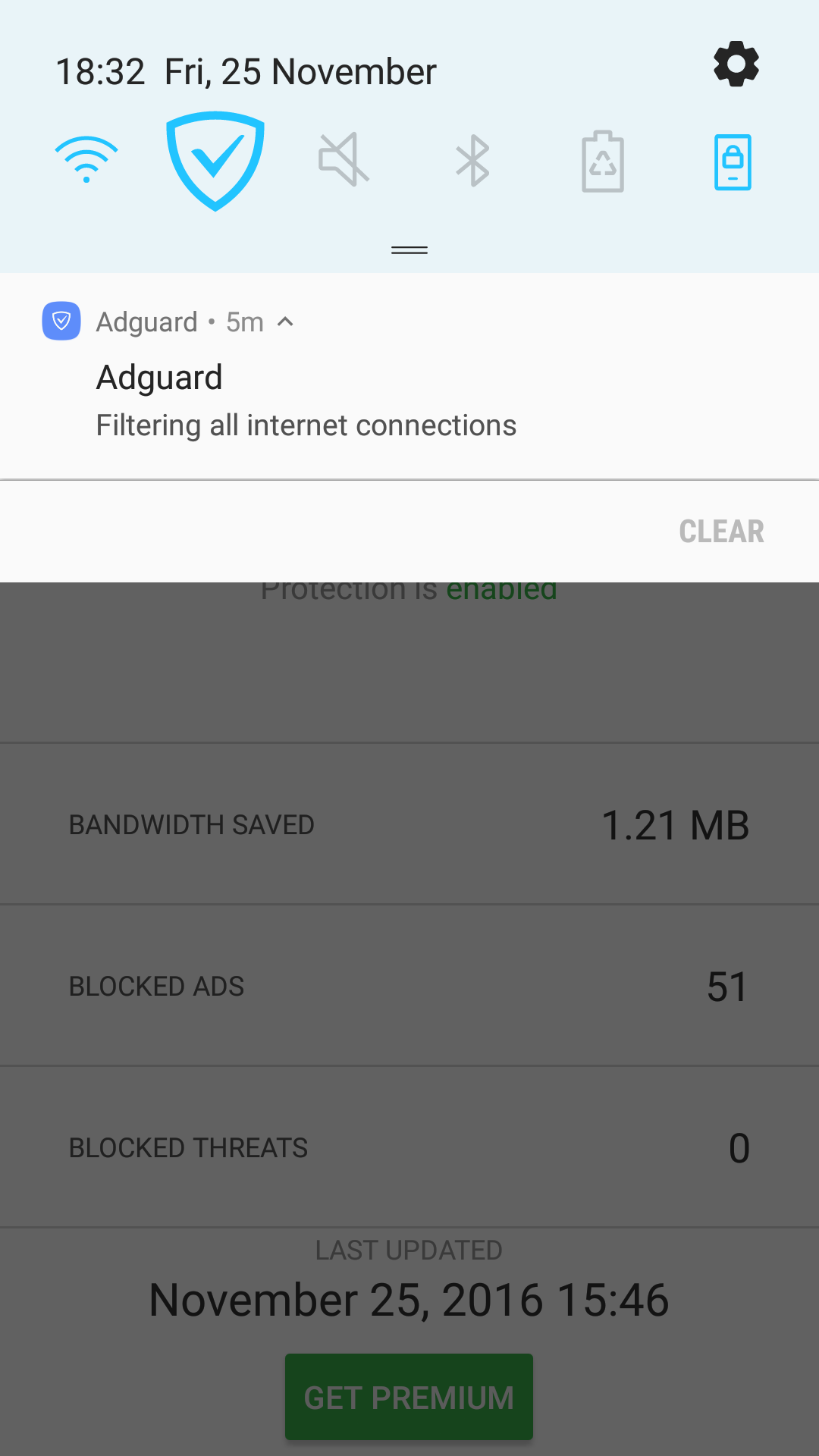 Adguard quick settings icon