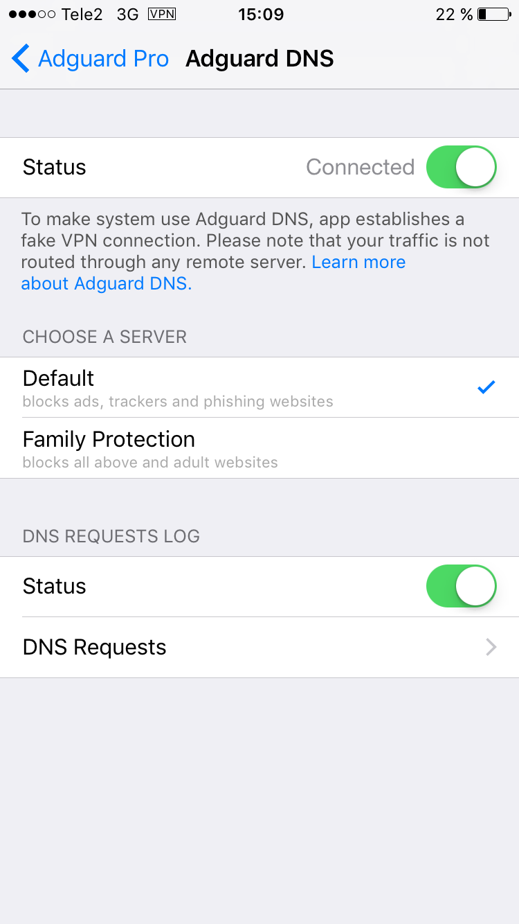 Adguard DNS Family Protection