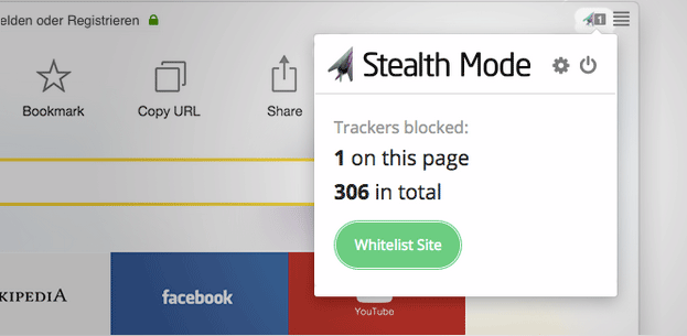 Stealth Mode extemsion for Yandex.Browser