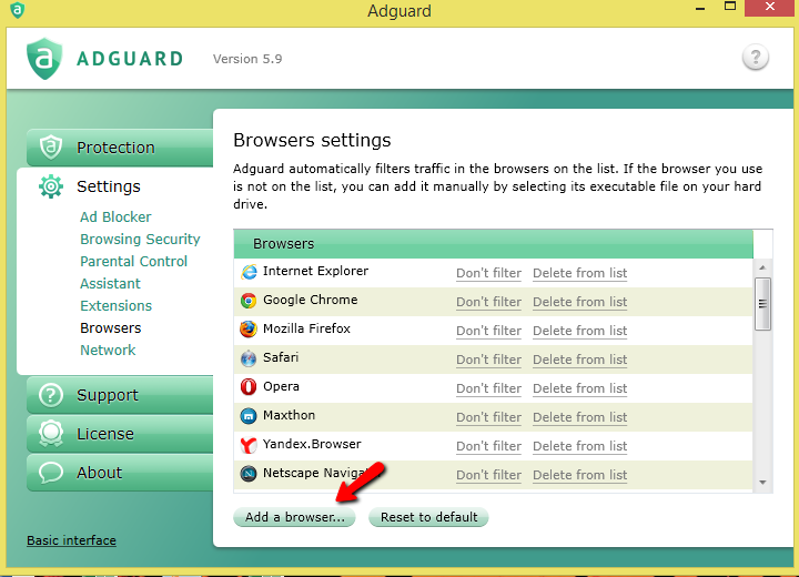 Adguard - program for ads blocking.