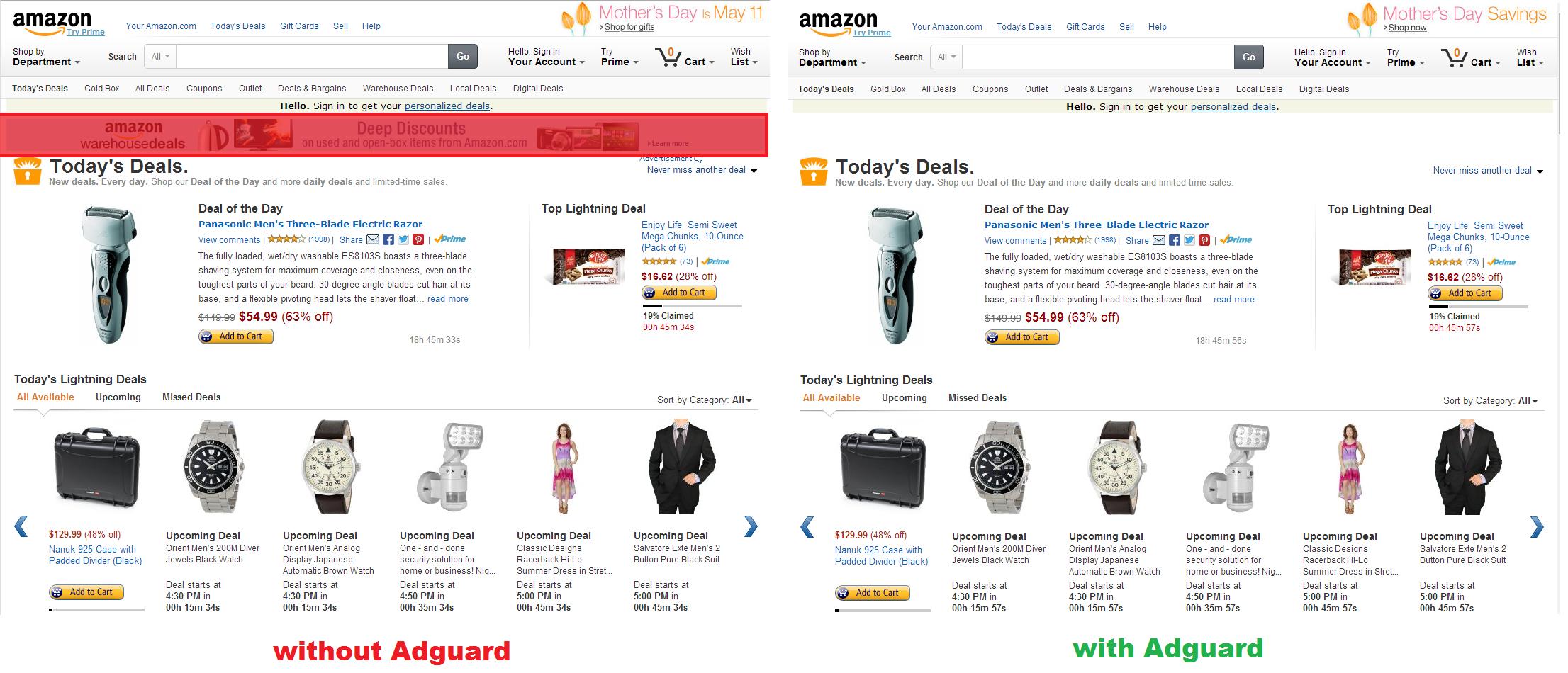 Block ads in Amazon