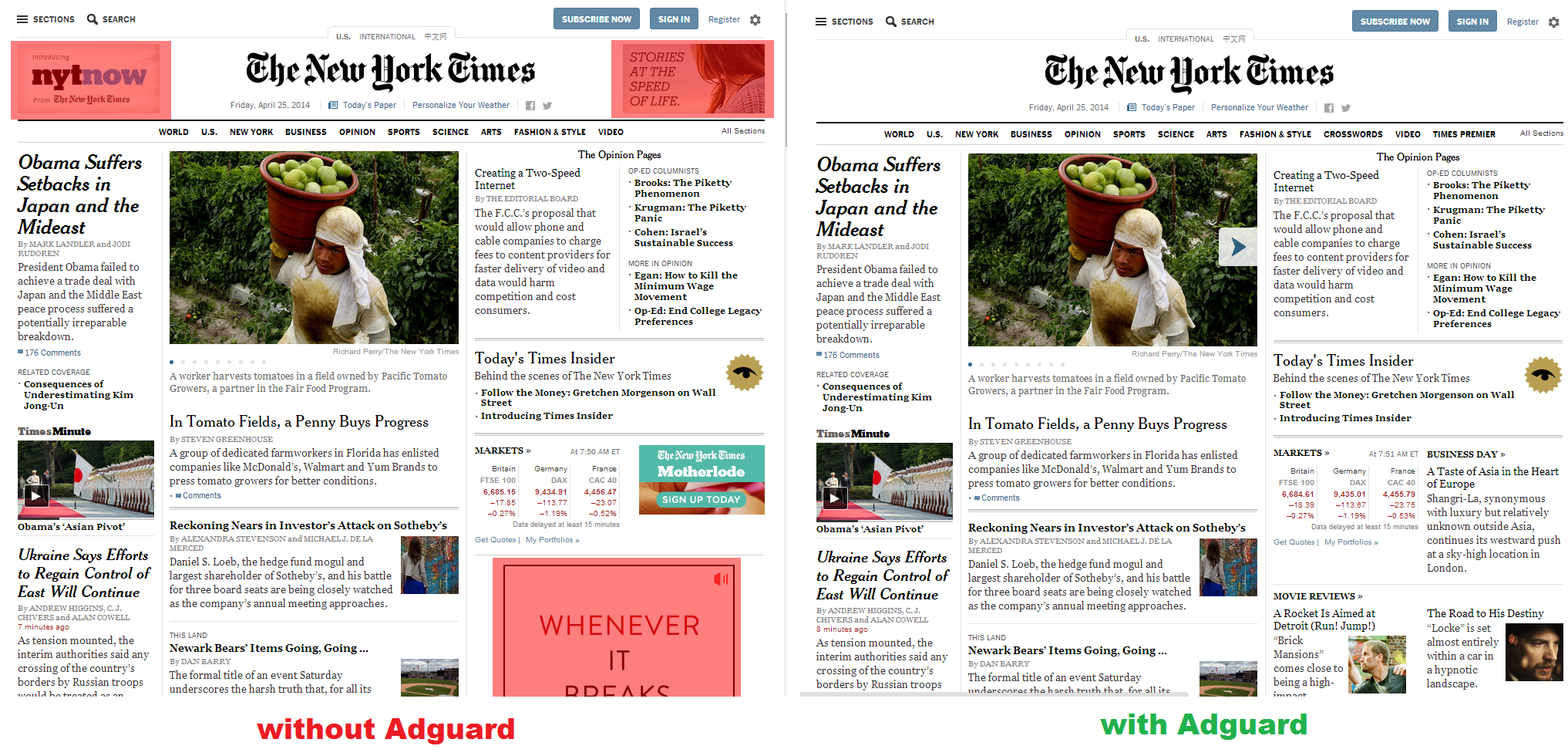 Block ads in New York Times