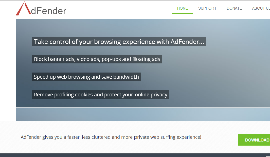 AdFender block the online ads