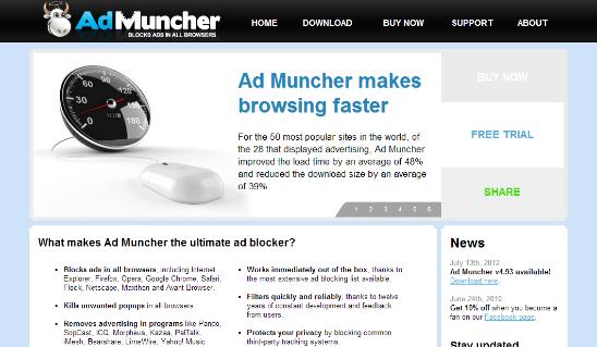 Ad Muncher блокировка всплывающих окон