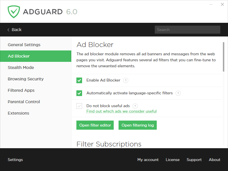 Adguard android key store