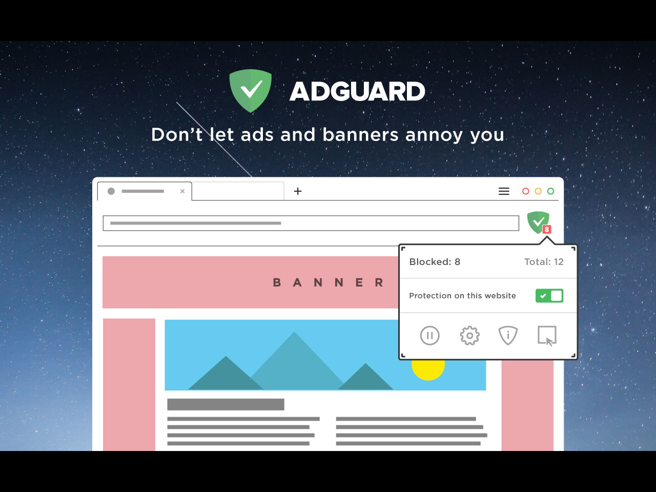 AdGuard AdBlocker Browser Extension | Overview | AdGuard